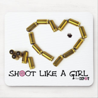 Shoot Like A Girl Mouse Pad