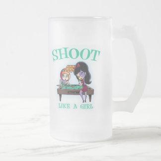 Shoot Like A Girl Frosted Beer Mug