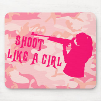 Shoot Like a Girl Pink Mouse Pad