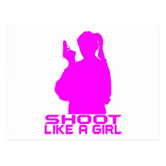 SHOOT LIKE A GIRL POSTCARDS