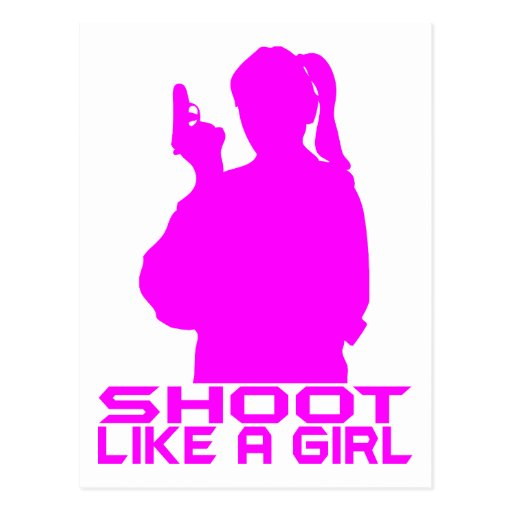 SHOOT LIKE A GIRL POSTCARD
