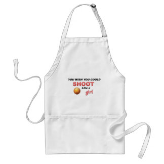 Shoot like a girl standard apron