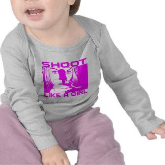 SHOOT LIKE A GIRL T SHIRT