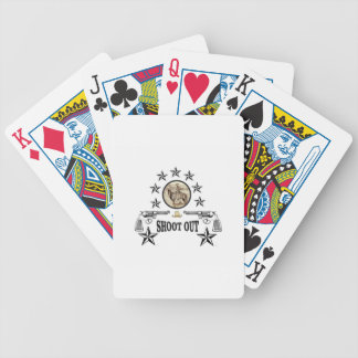 shoot out western art bicycle playing cards