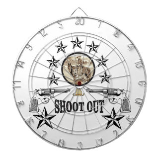 shoot out western art dartboard