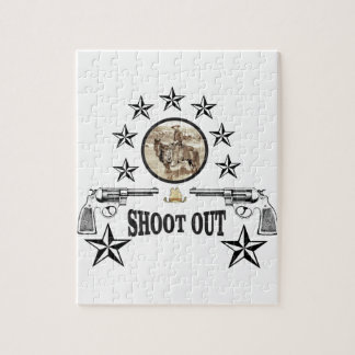 shoot out western art jigsaw puzzle