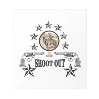 shoot out western art notepad