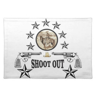 shoot out western art placemat