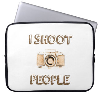 shoot people funny text photo camera photographer laptop sleeve