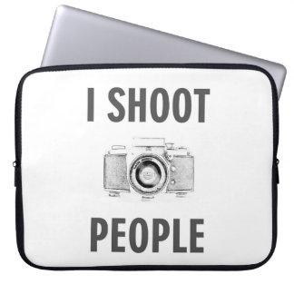 shoot people funny text photo camera photographer laptop sleeve