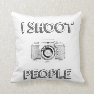 shoot people funny text photo camera photographer throw pillow