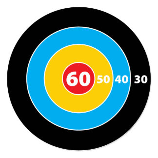 Shoot! Target Hunters 60th Birthday Invitation