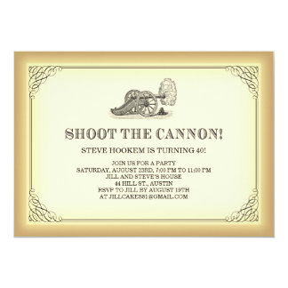 Shoot the Cannon Party Invitations