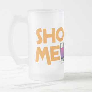 shooter me 16 oz frosted glass beer mug
