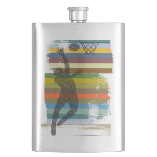 Shootin' Hoops Hip Flask