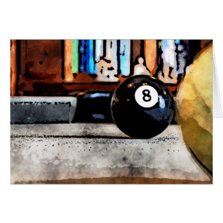 Shooting For The Eight Ball Card