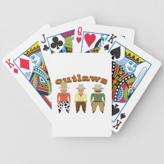 Shooting Gallery Outlaws Poker Deck