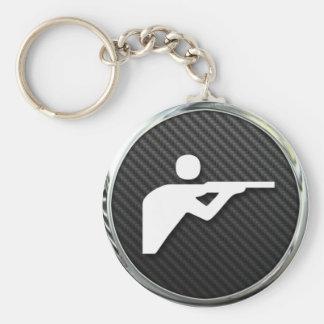 Shooting Icon Basic Round Button Keychain