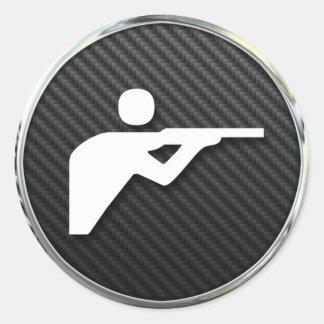 Shooting Icon Round Sticker