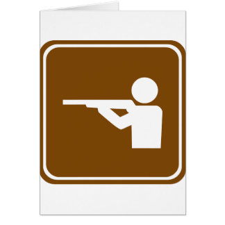 Shooting Range Highway Sign Card