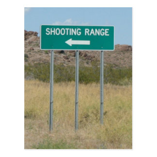 Shooting Range Postcard