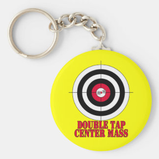 Shooting Range Target Bullseye Gun Keychain