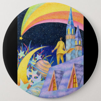 Shooting star 6 inch round button