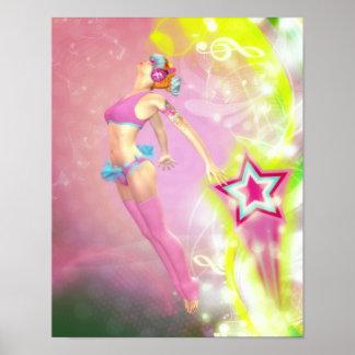 Shooting Star Canvas/Poster Print