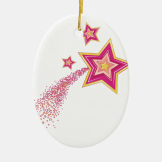 Shooting Star Ceramic Oval Ornament