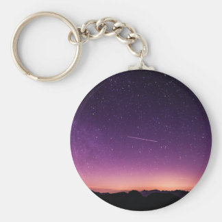 Shooting star in sky keychain