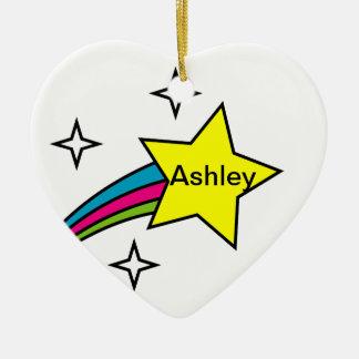 Shooting Star Name Ornament