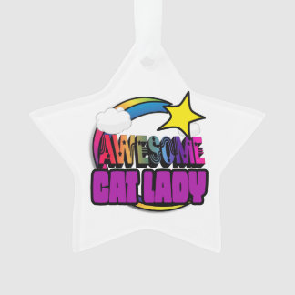 Shooting Star Rainbow Awesome Cat Lady