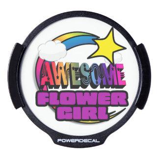 Shooting Star Rainbow Awesome Flower Girl LED Window Decal