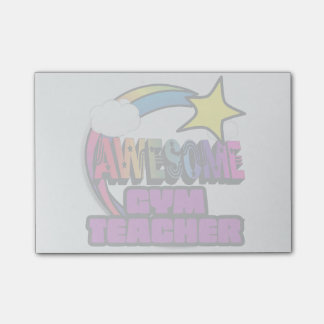 Shooting Star Rainbow Awesome Gym Teacher Post-it® Notes