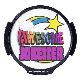 Shooting Star Rainbow Awesome Jokester LED Window Decal