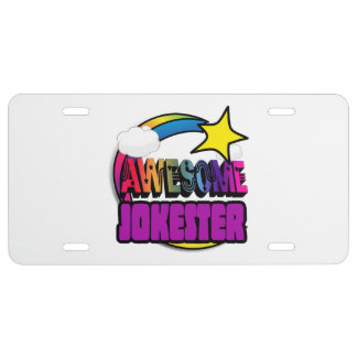 Shooting Star Rainbow Awesome Jokester License Plate