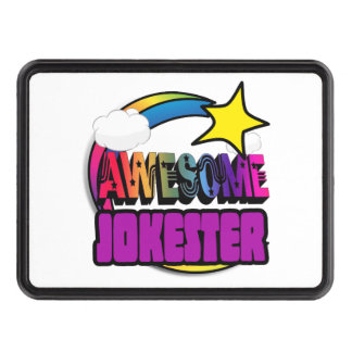 Shooting Star Rainbow Awesome Jokester Tow Hitch Covers