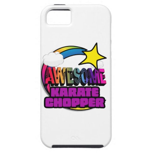 Shooting Star Rainbow Awesome Karate Chopper iPhone 5/5S Covers