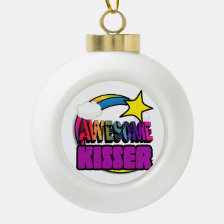 Shooting Star Rainbow Awesome Kisser Ornaments