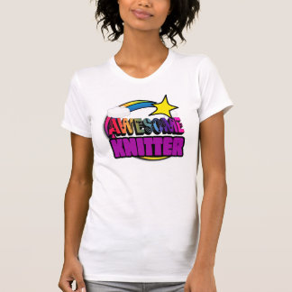 Shooting Star Rainbow Awesome Knitter Shirts