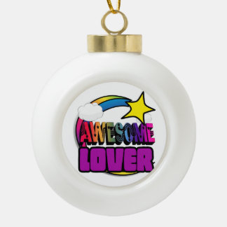 Shooting Star Rainbow Awesome Lover Ornaments