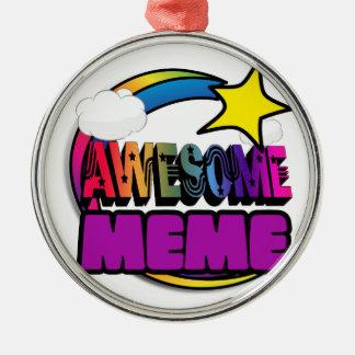 Shooting Star Rainbow Awesome Meme Christmas Ornament