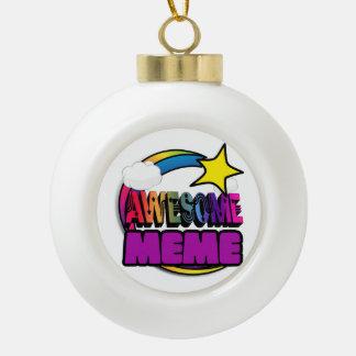 Shooting Star Rainbow Awesome Meme Ornaments
