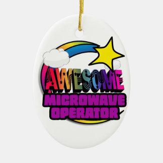 Shooting Star Rainbow Awesome Microwave Operator Christmas Ornament
