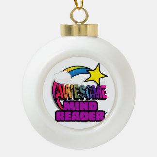 Shooting Star Rainbow Awesome Mind Reader Ornament