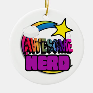 Shooting Star Rainbow Awesome Nerd Ornaments