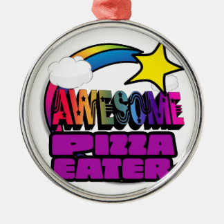 Shooting Star Rainbow Awesome Pizza Eater Ornaments