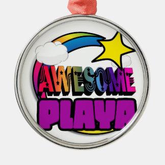 Shooting Star Rainbow Awesome Playa Christmas Ornament