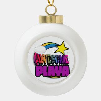 Shooting Star Rainbow Awesome Playa Ornament