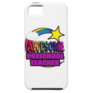 Shooting Star Rainbow Awesome Preschool Teacher iPhone 5 Cases